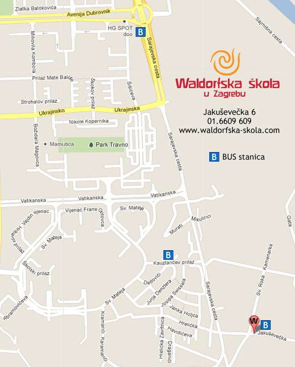 WALDORFSKA SKOLA MAPA